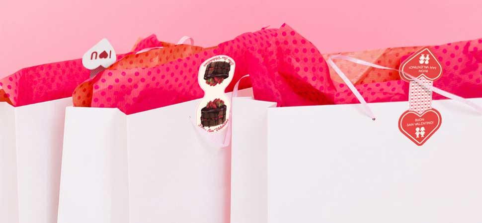 Chiudi-pacco a tema San Valentino
