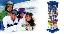 Espositori pubblicitari per scuole sci
