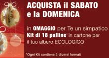 Promo kit palline Albero di Natale ecologico