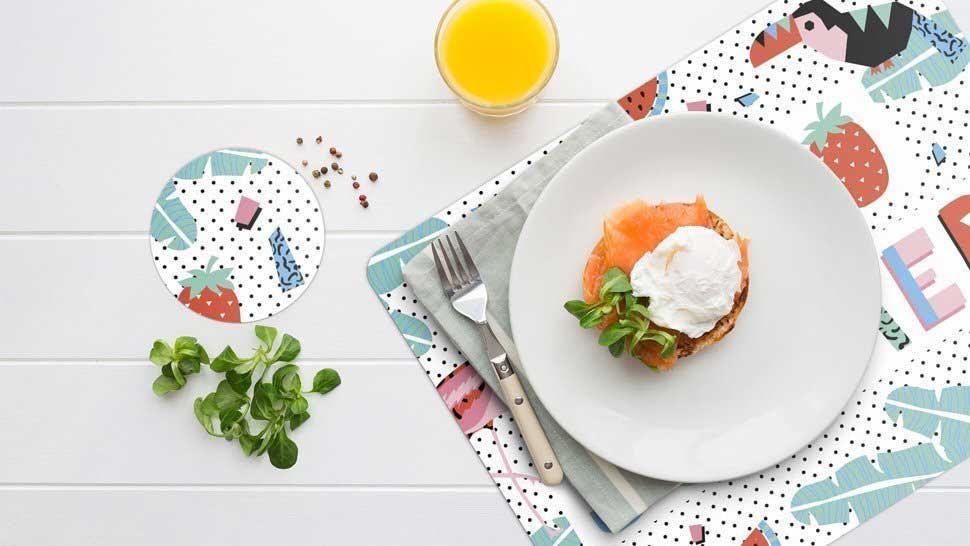Allestire una tavola estiva: sole, cuore e sottobicchieri personalizzati!