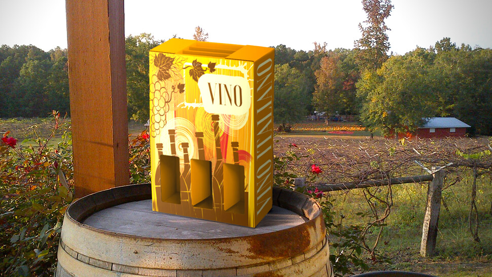 packaging ecologico in campo autunno