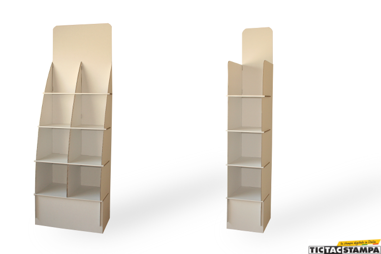 Librerie in cartone per edicole e biblioteche tic tac blog for Vendita on line librerie