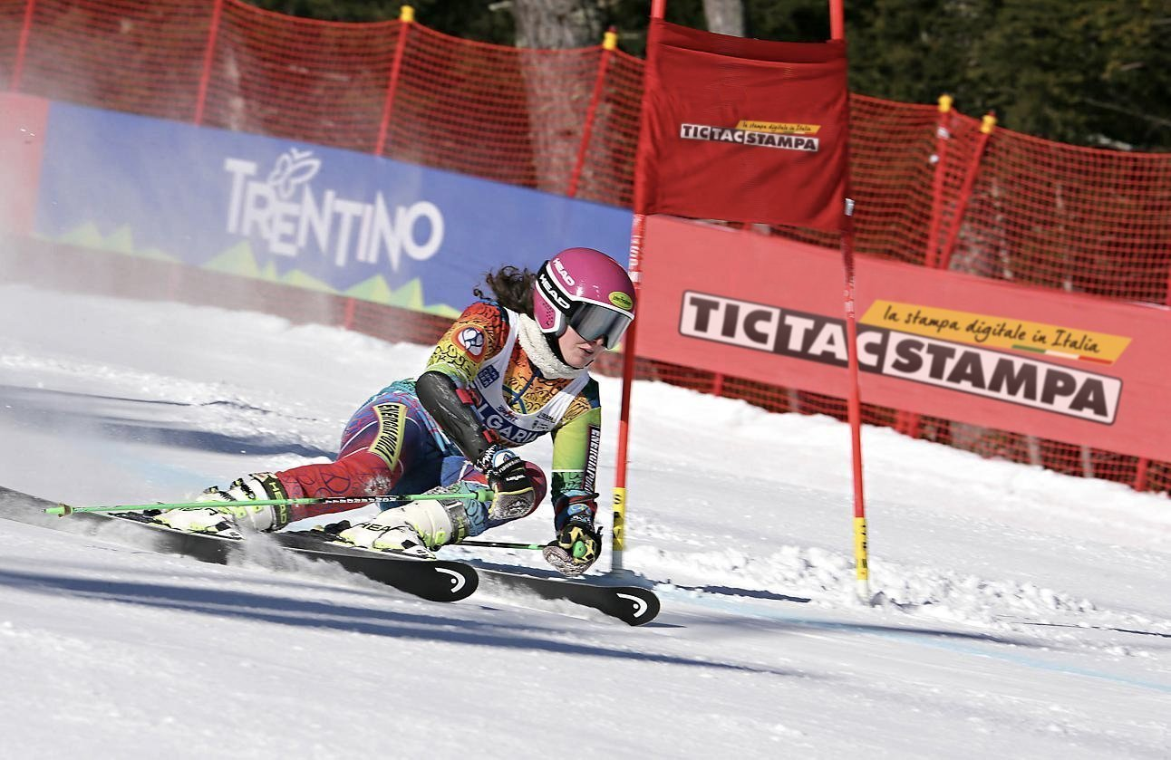 Striscioni per gare di sci