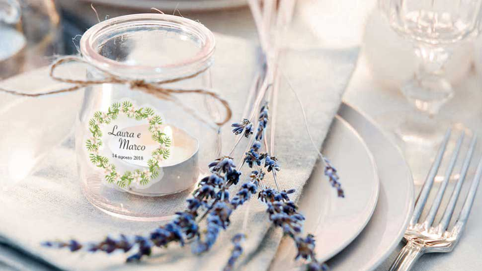 Etichette per matrimonio