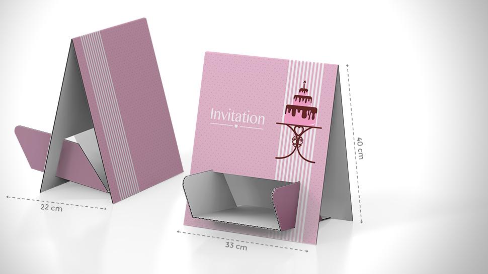 Porta volantini da banco in cartone stampato - Porta volantini ...